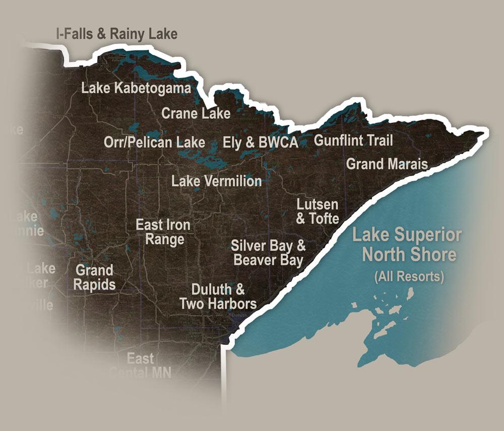 Lake Vermillion Minnesota Map.Northeast Minnesota Resorts Vacations In Minnesota S Arrowhead Region